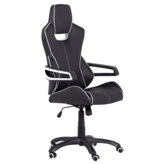 геймърски стол 7513 черно-бял