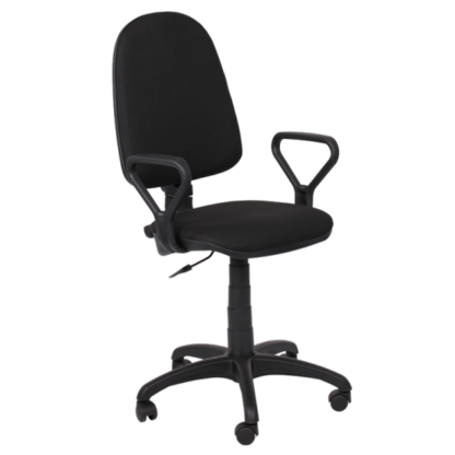 Офис стол Carmen Prestige дамаска черен