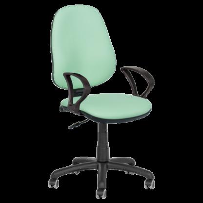 Работен стол Polo с подлакътници - еко кожа резеда N