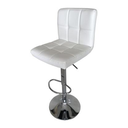 Бар стол Калипсо 12 бяла еко кожа