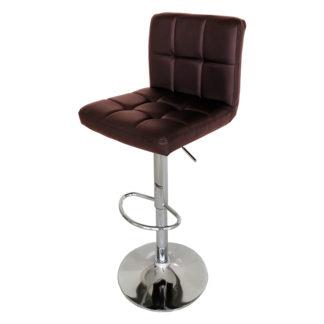Бар стол Калипсо 12 кафява еко кожа