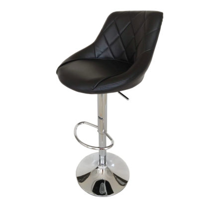 Бар стол Калипсо 16 черна еко кожа