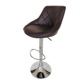 Бар стол Калипсо 16 кафява еко кожа