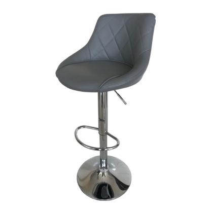Бар стол Калипсо 16 сива еко кожа