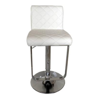 Бар стол калипсо 17 бяла еко кожа