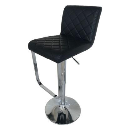 Бар стол Калипсо 17 черна еко кожа