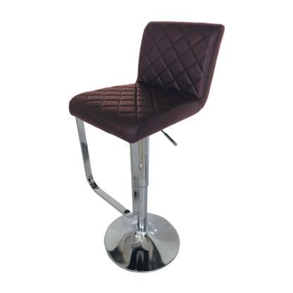 Бар стол Калипсо 17 - кафява еко кожа