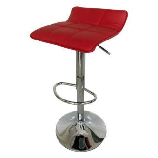 Бар стол Калипсо 5 червена еко кожа