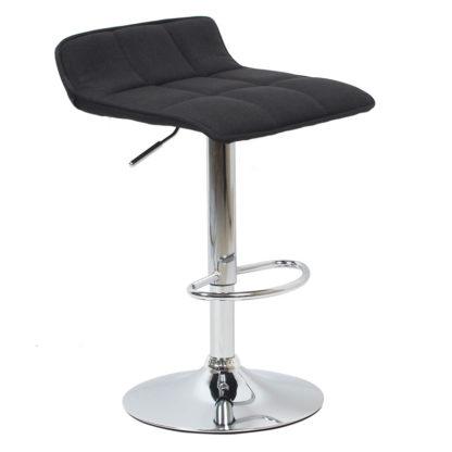бар стол Калипсо 5 черен текстил