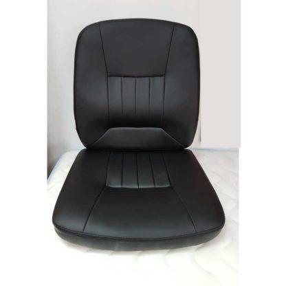 седалка и облегалка за офис стол черна еко кожа
