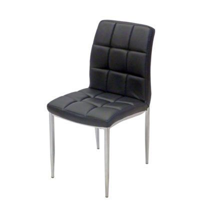 Трапезен стол А-03 черна еко кожа