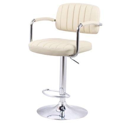 бар стол Калипсо 13 бежова еко кожа