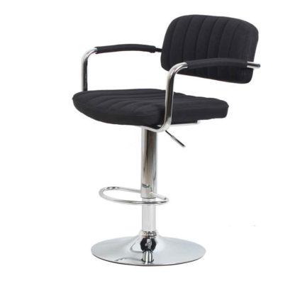бар стол Калипсо 13 текстил черен