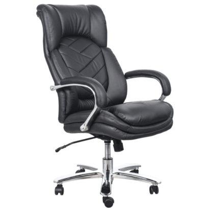 офис стол 6100 черна еко кожа