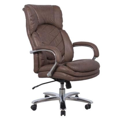офис стол 6100 кафява еко кожа