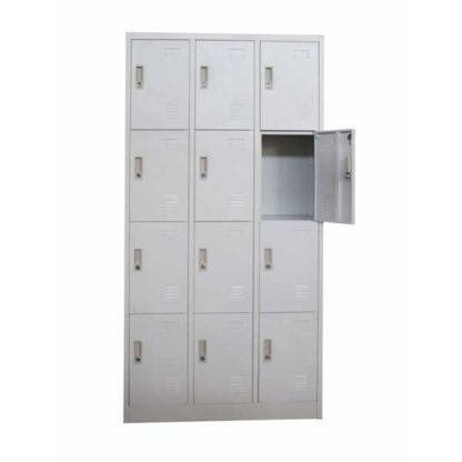 метален гардероб с дванадесет врати