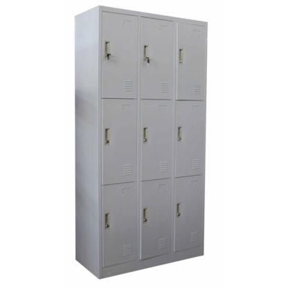 Метален гардероб с 9 отделения