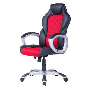 Геймърски стол Viking черно-червен
