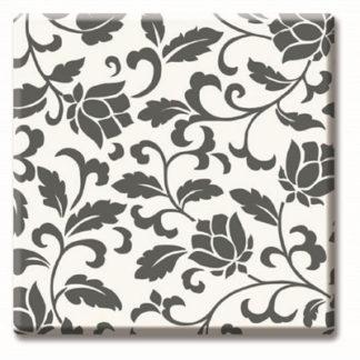 верзалитов плот цвят черно-бели цветя код 536