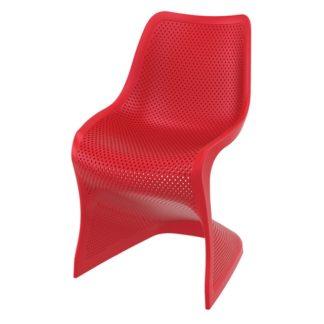 Стол Блум - червен полипропилен