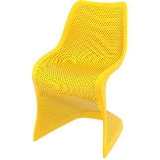 Стол Блум - жълт полипропилен