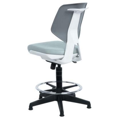 Висок работен стол Lab Lux - сив SIL
