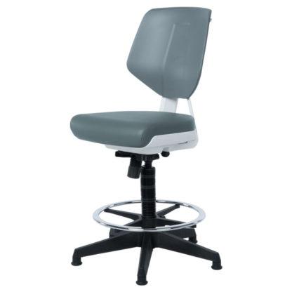 Висок работен стол Lab - сив