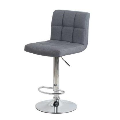 Бар стол Калипсо 12 текстил сив