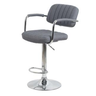 Бар стол Калипсо 13 сив текстил