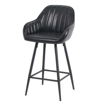 Бар стол Калипсо 21 черна еко кожа
