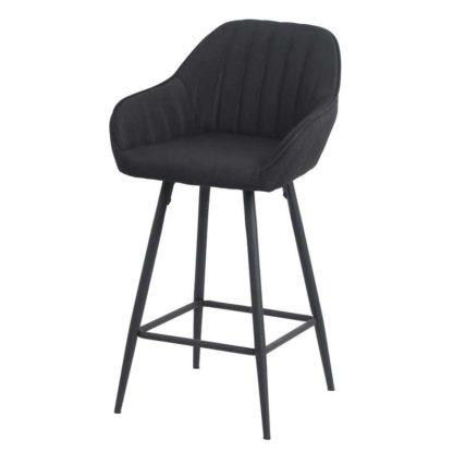 Бар стол Калипсо 21 черен текстил