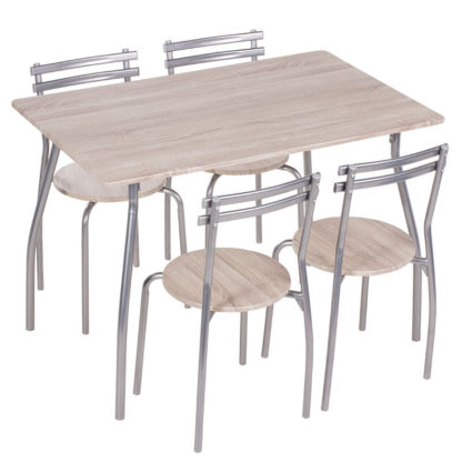 комплект маса с 4 стола 20014 дъб сонома