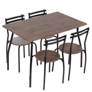 Комплект маса с 4 стола 20014 орех