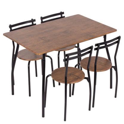 комплект маса с 4 стола 20014 палисандър