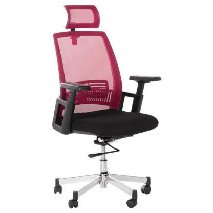 офис стол 7514 бордо-черен