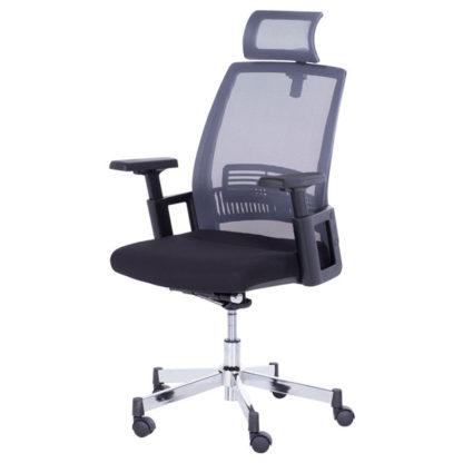 Офис стол 7514 графит-черен