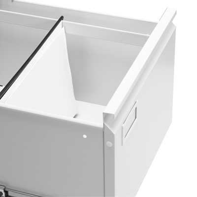 Метален кардекс CR-1230 L с две чекмеджета - изглед на чекмежде
