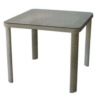 Ратанова маса Т 341-1 размер 90/90/75h сиво-бежов ратан