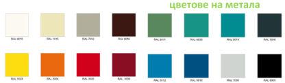 цветове на метала за метални гардероби MSumS