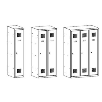 Метални гардероби серия MSumS - скица
