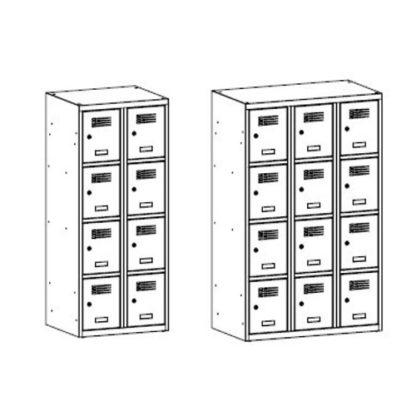 Серия метални шкафчета MsusS - скица