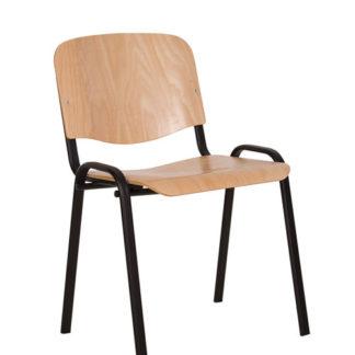 Посетителски стол Iso Wood Black