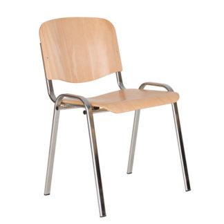 Посетителски стол Iso Wood Chrome