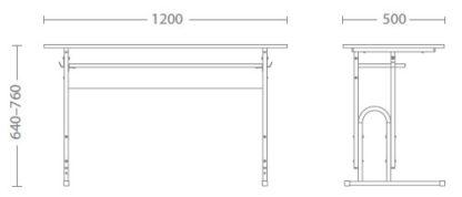 размери ученическо бюро Е-174