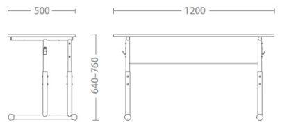 Размери Ученическо бюро Е-176 РК