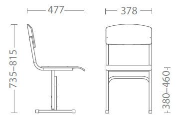 размери Ученически стол Е-274