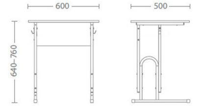 Размери Ученическо бюро Е-174-1