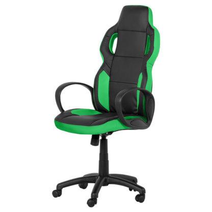 Офис стол 7510 - черно- зелен