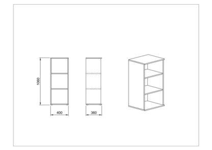 Схема етажерка Гранд 57