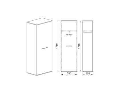 Схема гардероб Гранд 66